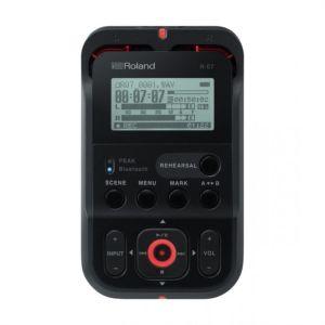 ROLAND - R-07 Bk Black Registratore digitale bluetooth