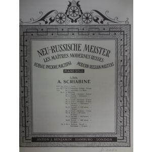 EDIZIONI MUSICALI RIUNITE - A.Scriabine Neu-russische Meister Op.2 N¦1