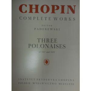 EDIZIONI MUSICALI RIUNITE - Chopin Complete Works Three Polonaises
