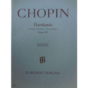 G.HENLE VERLAG - Chopin Fantasie Op 49 Per Pianoforte