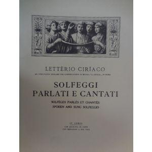 L.CIRIACO - Solfeggi Parlati E Cantati IV Corso