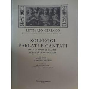 L.CIRIACO - Solfeggi Parlati E Cantati Iii Corso
