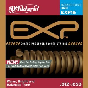 D'ADDARIO - Exp16 Light Phosphor Bronze 012/053 muta per chitarra acustica