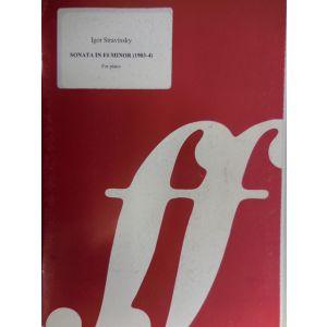 EDIZIONI MUSICALI RIUNITE - I.Stravinsky Sonata In F Minor For Piano
