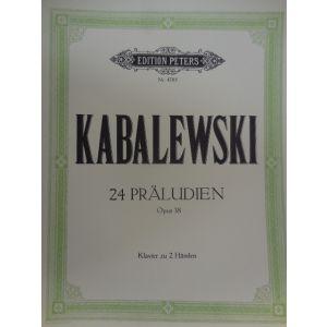 EDITION PETERS - Kabalewski 24 Preludi Op.38 Per Pianoforte