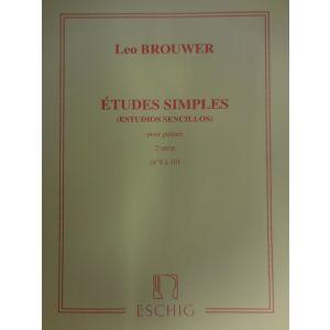 ESCHIG - L.Brouwer Etudes Simples Pour Guitare (n¦6 A 10