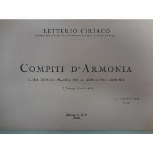 L.CIRIACO - Compiti D'armonia Guida Teorico-pratica