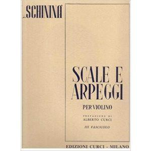 CURCI - L.Schinina' Scale E Arpeggi Per Violino III Fascicolo