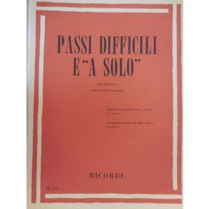 """RICORDI - L.Torrebruno Passi Difficili E """"a Solo"""" Per Timpani"""