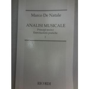 RICORDI - M.De Natale Analisi Musicale Principi Teorici Esercitazioni pratiche