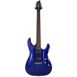 SCHECTER - Omen-6-eb Blu chitarra elettrica