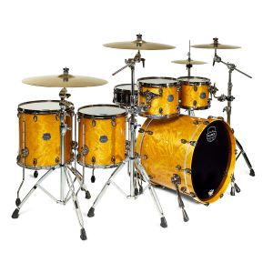 MAPEX - Sv628xb Mnl Saturn V Mh Exotic Rock Studioease 5-Piece Shell Pack In Amber Maple Burl batteria acustica