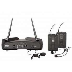 PROEL - Wm202dh Dual SISTEMA MICROFONICO DOPPIO LAVALIER E HEADSET UHF WIRELESS